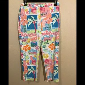 Vintage Lilly Pulitzer print casual pants size 8